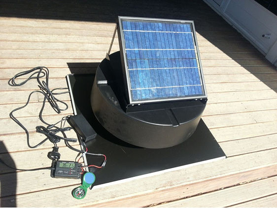Green Vent Solar Attic Extractor Temp Humidity East