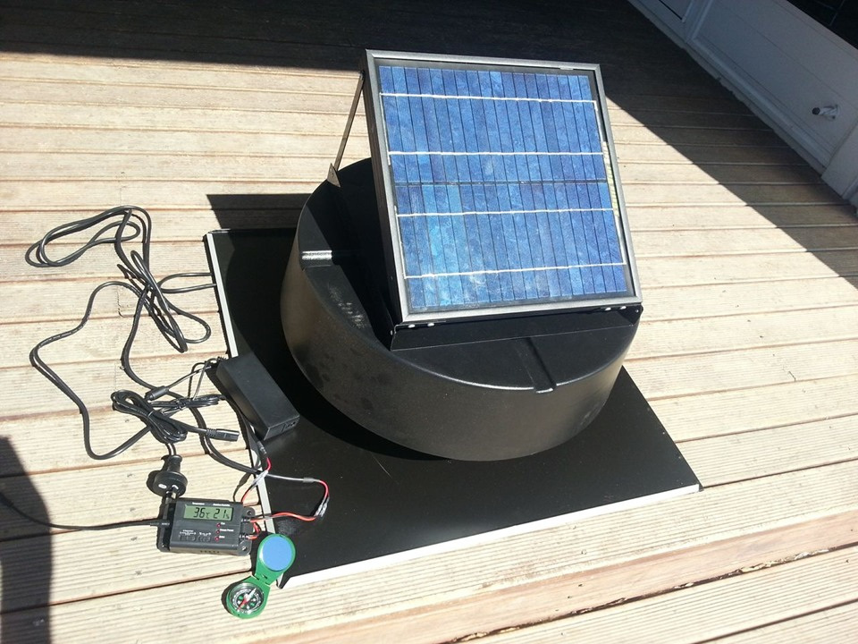 Green Vent Solar Attic Extractor Temp Humidity East