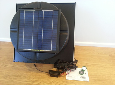 Green Vent Solar - Attic Extractor - Temp/Humidity