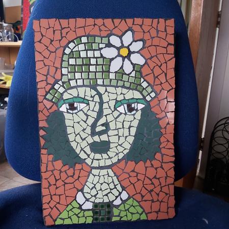Green Woman Mosaic
