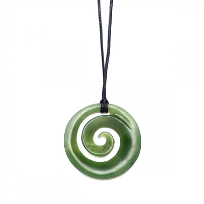 Greenstone Koru Sml Carved