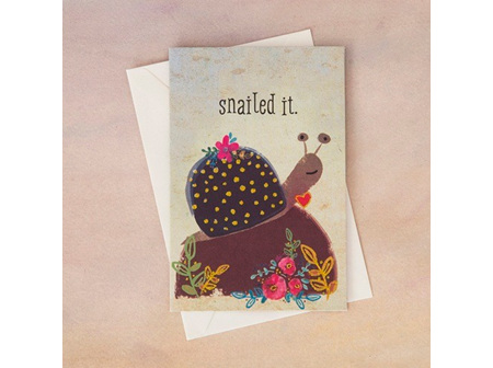 Greeting Card-Snailed It