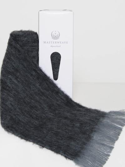 Alpaca Scarf - Grey/Black Marl
