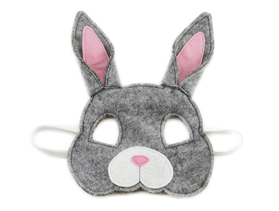 Grey bunny rabbit mask