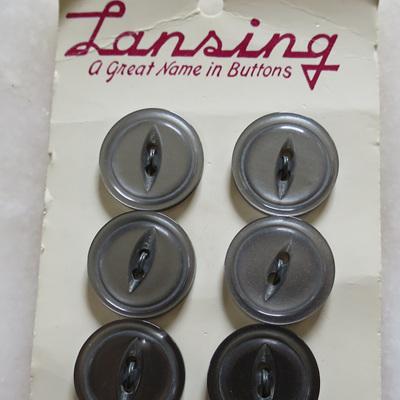 Lansing vintage grey buttons