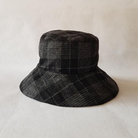 Grey Checks Bucket Hat - Adult size large