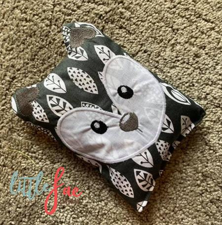 Grey Fox Animal Wheat Bag