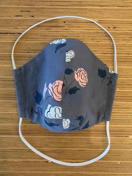 Grey rose facemask