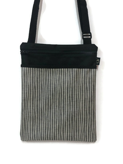 Dory Large - grey stripe