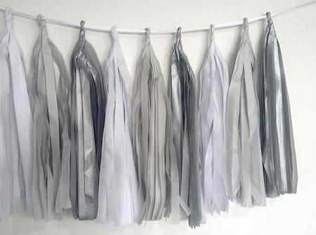 Grey tassel garland