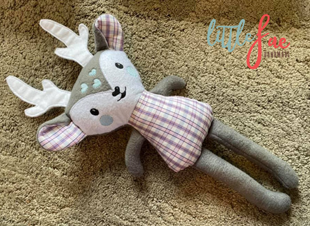 Grey & White Reindeer Soft Toy