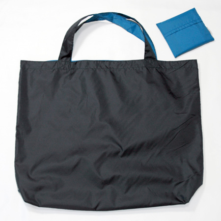 grocery pouch | navy/turquoise