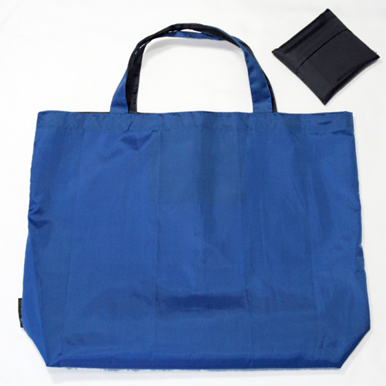 grocery pouch - royal and navy - reusable nylon shopping bag
