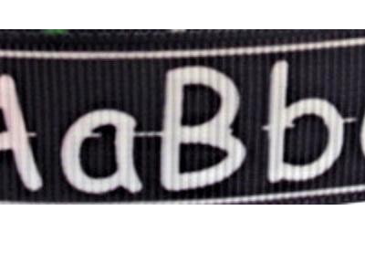 Grosgrain Ribbon x 3 Metres ABC Blackboard