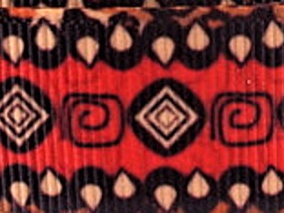 Grosgrain Ribbon x 3 Metres African-Style Pattern