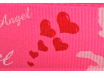 Grosgrain Ribbon x 3 Metres Angels: Bright Pink