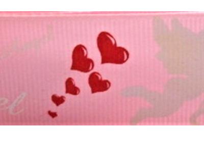Grosgrain Ribbon x 3 Metres Angels: Light Pink