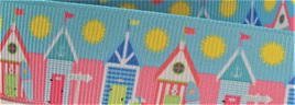 Grosgrain Ribbon x 3 Metres Beach Huts