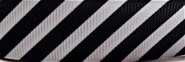 Grosgrain Ribbon x 3 Metres Black & White Diagonal Stripes