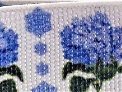 Grosgrain Ribbon x 3 Metres Blue Flowers