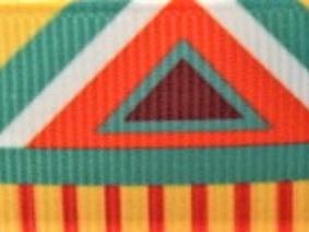 Grosgrain Ribbon x 3 Metres Bright Aztec Pattern