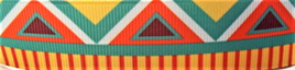 Grosgrain Ribbon x 3 Metres Bright Aztec Pattern CLEARANCE