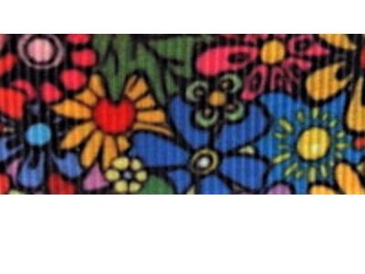 Grosgrain Ribbon x 3 Metres Bright Garden Flowers