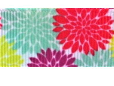 Grosgrain Ribbon x 3 Metres Bright Summer Flowers