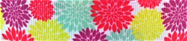 Grosgrain Ribbon x 3 Metres Bright Summer Flowers