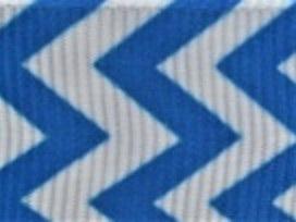 Grosgrain Ribbon x 3 Metres Chevron Stripes: Blue & White