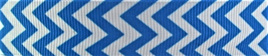Grosgrain Ribbon x 3 Metres Chevron Stripes: Blue & White