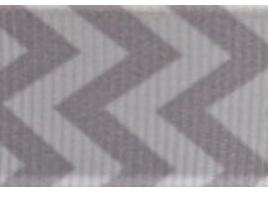 Grosgrain Ribbon x 3 Metres Chevron Stripes: Grey & White