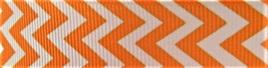 Grosgrain Ribbon x 3 Metres Chevron Stripes: Orange & White