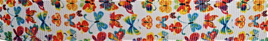 Grosgrain Ribbon x 3 Metres Colourful Butterflies
