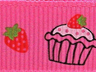 Grosgrain Ribbon x 3 Metres Cupcakes CLEARANCE