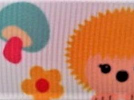 Grosgrain Ribbon x 3 Metres Cute Hedgehogs