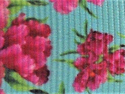 Grosgrain Ribbon x 3 Metres Dark Pink Flowers
