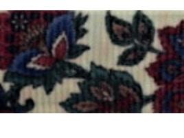 Grosgrain Ribbon x 3 Metres Dark Red & Navy Flowers
