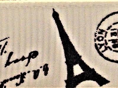 Grosgrain Ribbon x 3 Metres Eiffel Tower: Cream
