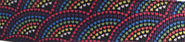 Grosgrain Ribbon x 3 Metres Fan Pattern