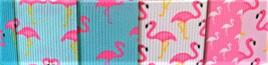 Grosgrain Ribbon x 3 Metres Flamingo Medley