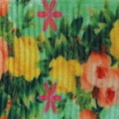 Grosgrain Ribbon x 3 Metres - Flowers on Victoriana Green Background