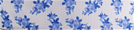 Grosgrain Ribbon x 3 Metres Forget-Me-Not Flowers