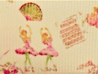 Grosgrain Ribbon x 3 Metres Graceful Ballerinas