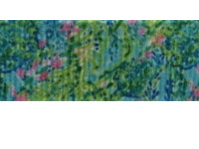 Grosgrain Ribbon x 3 Metres Green Floral Pattern CLEARANCE