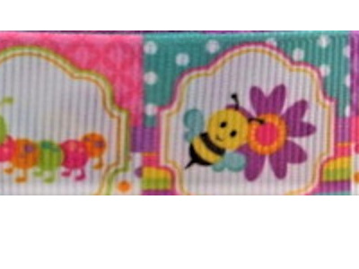 Grosgrain Ribbon x 3 Metres Insects and Butterflies
