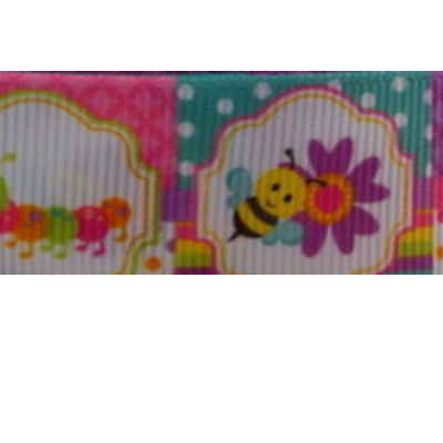 Grosgrain Ribbon x 3 Metres - Insects & Butterflies