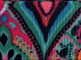 Grosgrain Ribbon x 3 Metres Jade Green & Hot Pink Retro Pattern