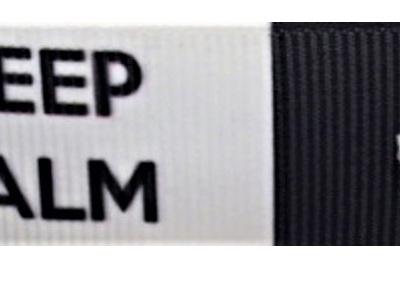 Grosgrain Ribbon x 3 Metres Keep Calm