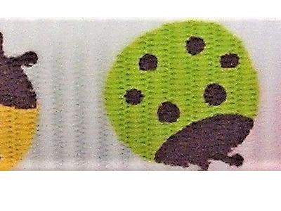 Grosgrain Ribbon x 3 Metres Ladybirds